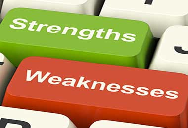 example of strengths and weaknesses list