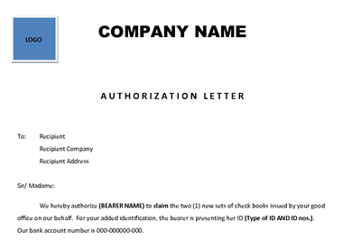 authorization letters will let someone assist you in these complex matters however authorization letters have to be properly written